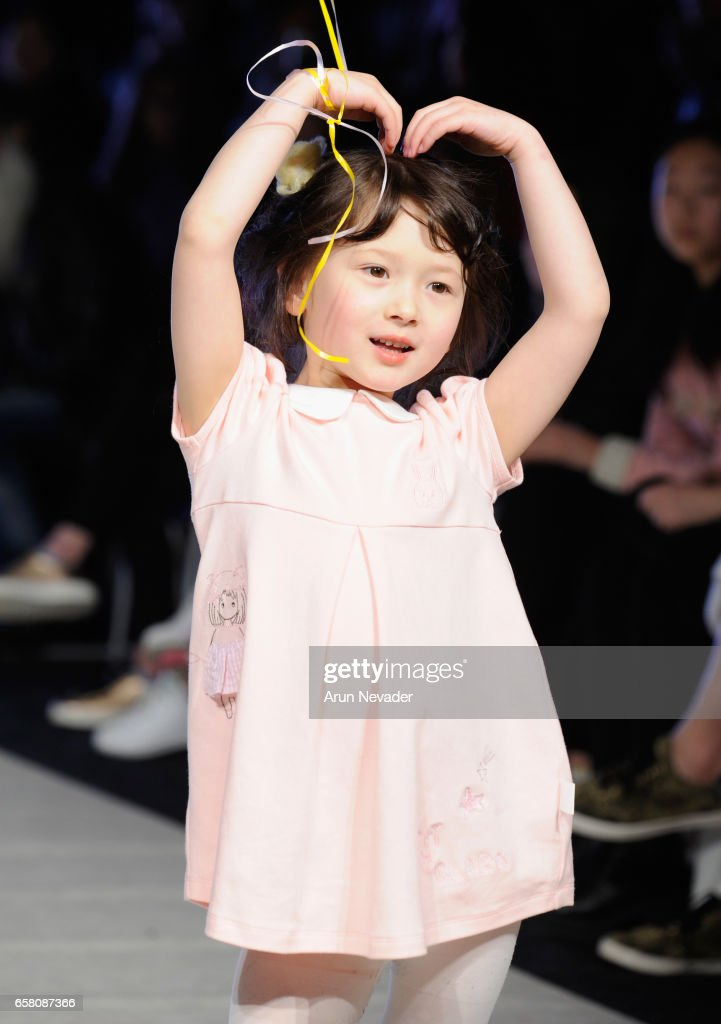 A model walks the runway wearing Blara Organic at Vancouver Fashion Week Fall/Winter 2017 at Chinese Cultural Centre of Greater Vancouver on March 26, 2017 in Vancouver, Canada.