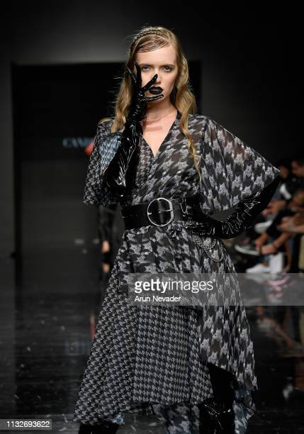 Model walks the runway wearing Candice Cuoco at Los Angeles Fashion Week FW/19 Powered by Art Hearts Fashion at The Majestic Downtown on March 24,...