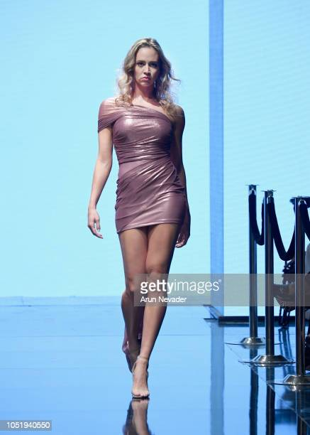 A model walks the runway wearing Castell by Jesse Castell at Los Angeles Fashion Week Powered by Art Hearts Fashion LAFW SS/19 at The Majestic...