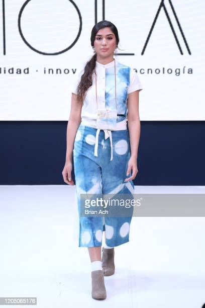 A model walks the runway wearing Cerrito de Indios during NYFW Powered By hiTechMODA on February 08 2020 in New York City