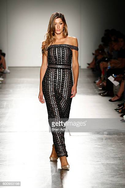 A model walks the runway wearing CRISTAHLEA at Fashion Palette Australian Womenswear New York Fashion Week Spring/Summer 2017 at Pier 59 Studios on...