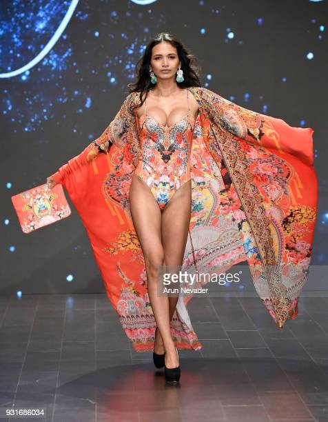 A model walks the runway wearing Czarina at Los Angeles Fashion Week Powered by Art Hearts Fashion LAFW FW/18 10th Season Anniversary at The...
