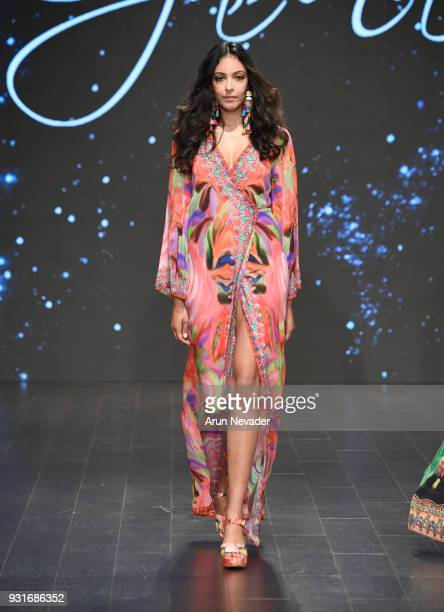 A model walks the runway wearing Czarina at Los Angeles Fashion Week Powered by Art Hearts Fashion LAFW FW/18 10th Season Anniversary at The...