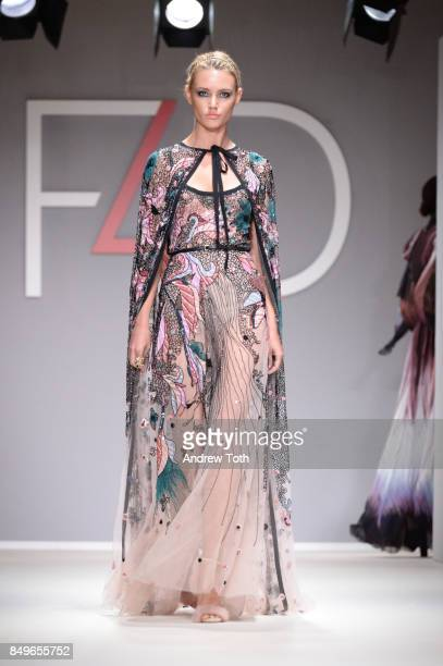 A model walks the runway wearing Elie Saab during Fashion 4 Development's 7th Annual First Ladies Luncheon at The Pierre Hotel on September 19 2017...