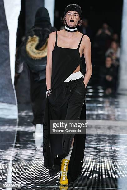 A model walks the runway wearing FENTY x PUMA by Rihanna Fall 2016 on February 12 2016 in New York City