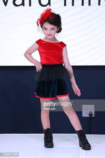 Model walks the runway wearing Fernandita Salazar Fashion Designer during NYFW Powered By hiTechMODA on February 08, 2020 in New York City.