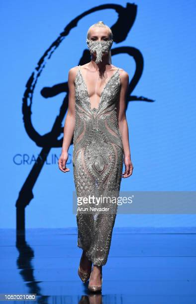 A model walks the runway wearing Grayling Purnell at Los Angeles Fashion Week Powered by Art Hearts Fashion LAFW SS/19 at The Majestic Downtown on...