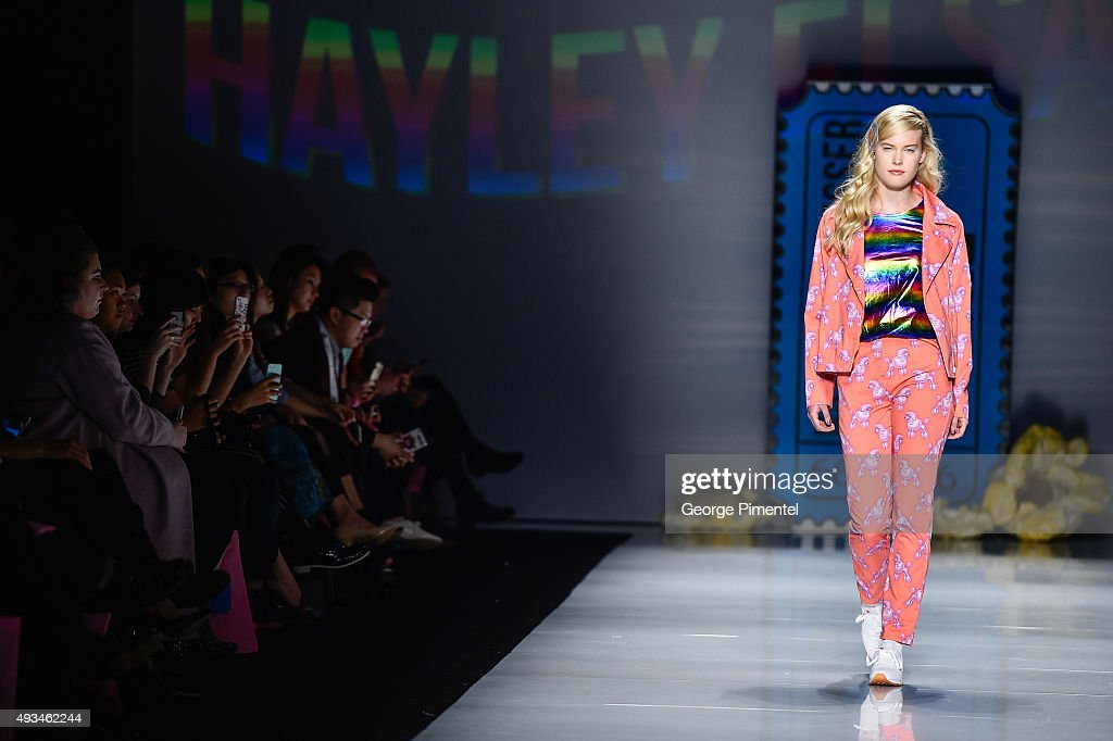 World MasterCard Fashion Week Spring 2016 Collections In Toronto - Hayley Elsaesser - Presentation : News Photo