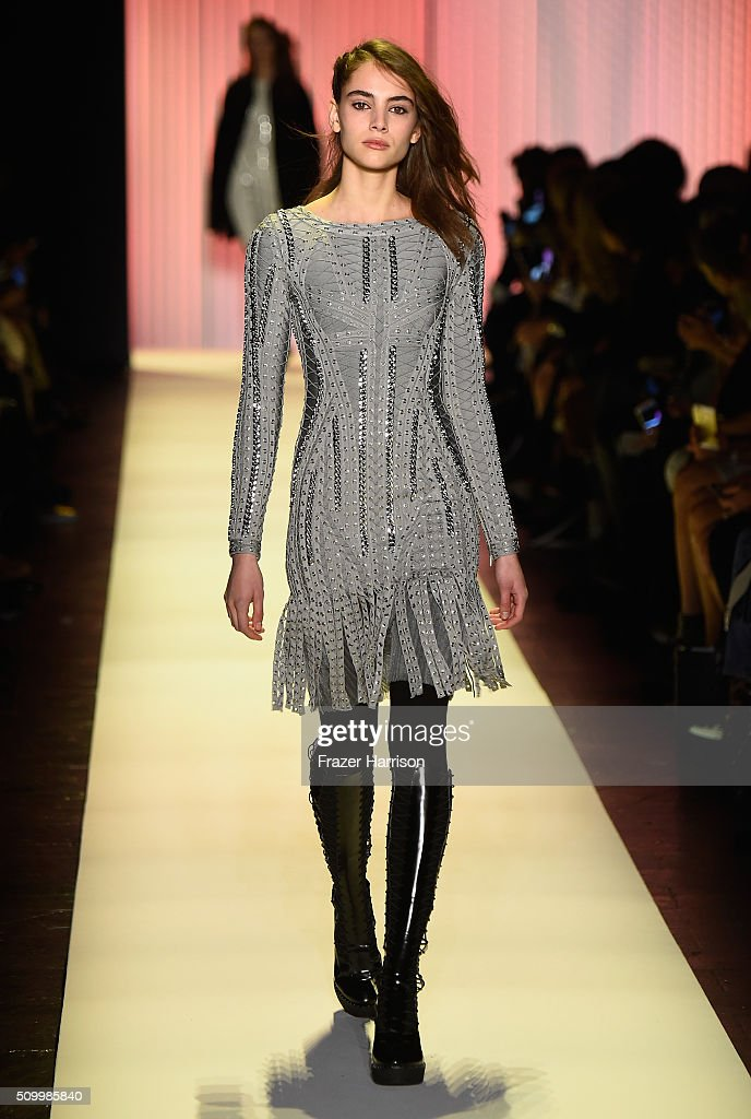 969a34dd0e8f Herve Leger By Max Azria - Runway - Fall 2016 New York Fashion Week  The
