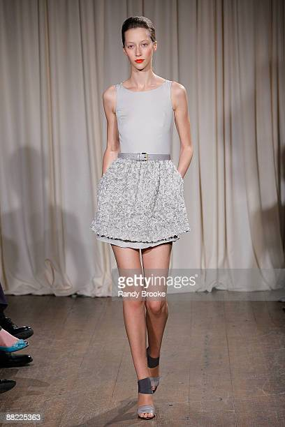 A model walks the runway wearing Jason Wu Resort 2010 at the Greenwich Hotel on June 4 2009 in New York City