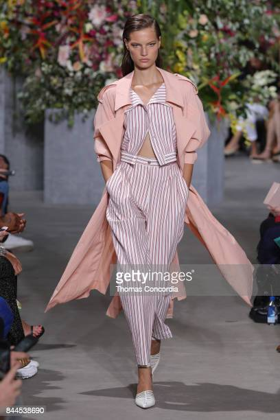 A model walks the runway wearing Jason Wu Spring 2018 during New York Fashion Week on September 8 2017 in New York City