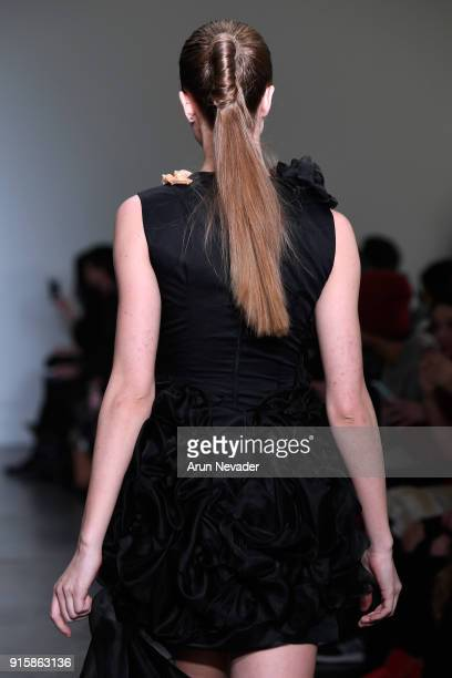 A model walks the runway wearing Kirsten Ley for Global Fashion Collective Presents KIRSTEN LEY At New York Fashion Week Fall 2018 at Industria...