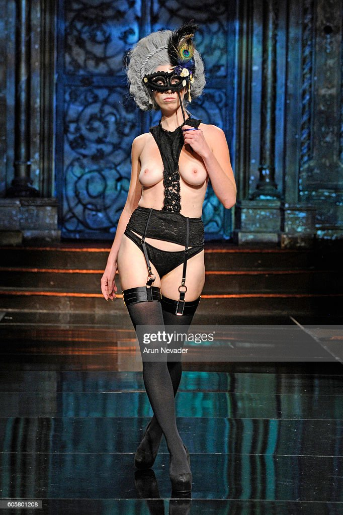 A model walks the runway wearing Liviara at Art Hearts Fashion NYFW The Shows Presented by AIDS Healthcare Foundation at The Angel Orensanz Foundation on September 14, 2016 in New York City.