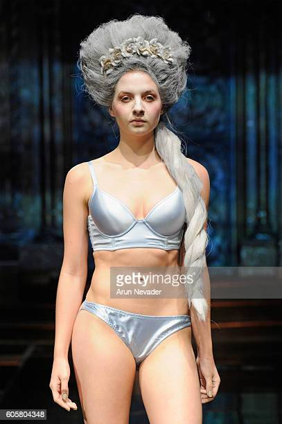 A model walks the runway wearing Liviara at Art Hearts Fashion NYFW The Shows Presented by AIDS Healthcare Foundation at The Angel Orensanz...