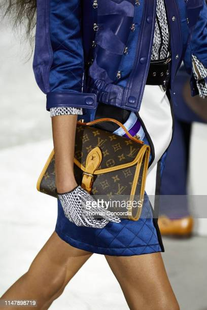 Model walks the runway wearing Louis Vuitton Cruise 2020 at the TWA Terminal Hotel at JFK on May 08, 2019 in New York City.