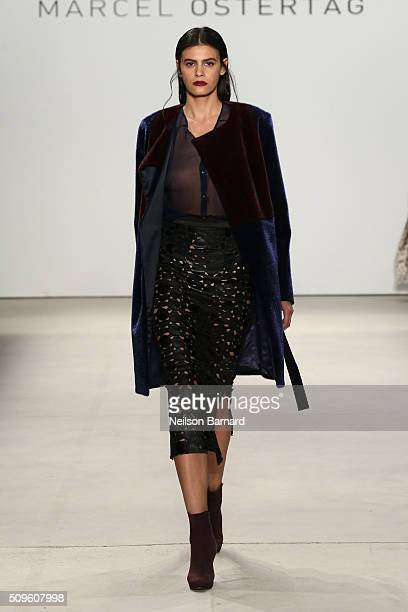 A model walks the runway wearing Marcel Ostertag Fall 2016 during New York Fashion Week The Shows at The Gallery Skylight at Clarkson Square on...