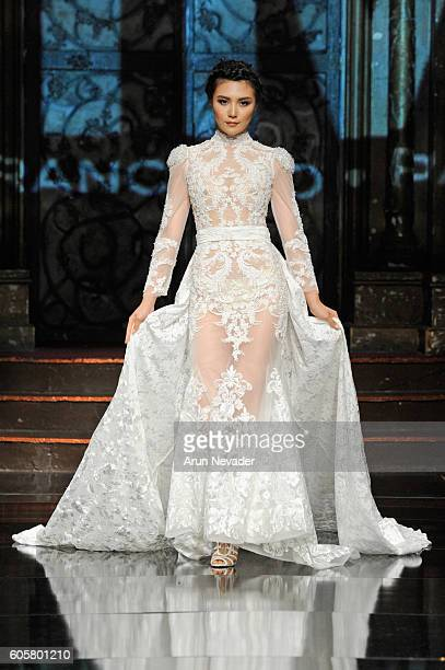A model walks the runway wearing Mimi Tran at Art Hearts Fashion NYFW The Shows presented by AIDS Healthcare Foundation at The Angel Orensanz...