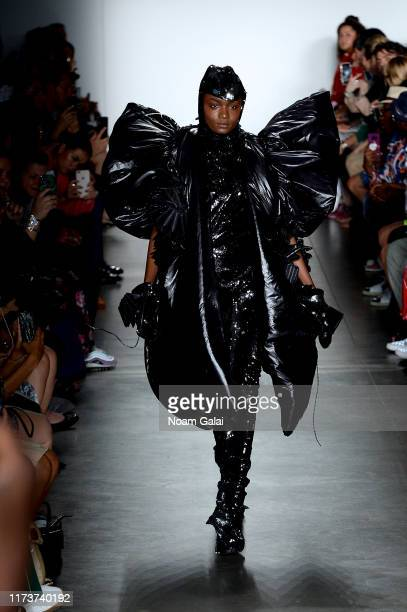 A model walks the runway wearing Moon Chang for CAAFD Emerging Designer Collective during New York Fashion Week The Shows on September 10 2019 in New...