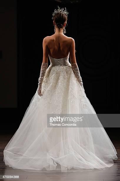 A model walks the runway wearing Naeem Khan Bridal Spring/Summer 2016 on April 17 2015 in New York City