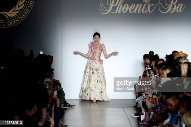 A model walks the runway wearing Phoenix Ba for CAAFD Emerging Designer Collective during New York Fashion Week The Shows on September 10 2019 in New...
