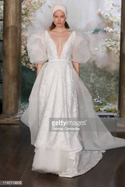 A model walks the runway wearing Phuong My Bridal on April 11 2019 in New York City