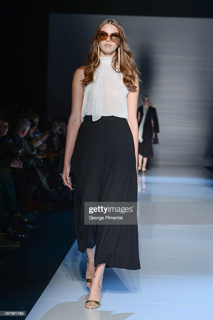 World MasterCard Fashion Week Spring 2015 Collections In Toronto - Pink Tartan - Runway : News Photo