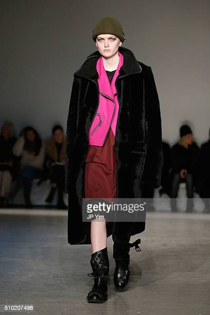 A model walks the runway wearing Public School Fall 2016 during New York Fashion Week on February 14 2016 in New York City