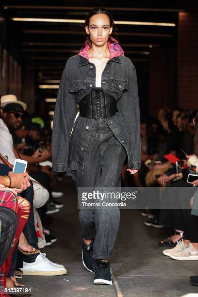 A model walks the runway wearing Public School Spring 2018 during New York Fashion Week on September 10 2017 in New York City