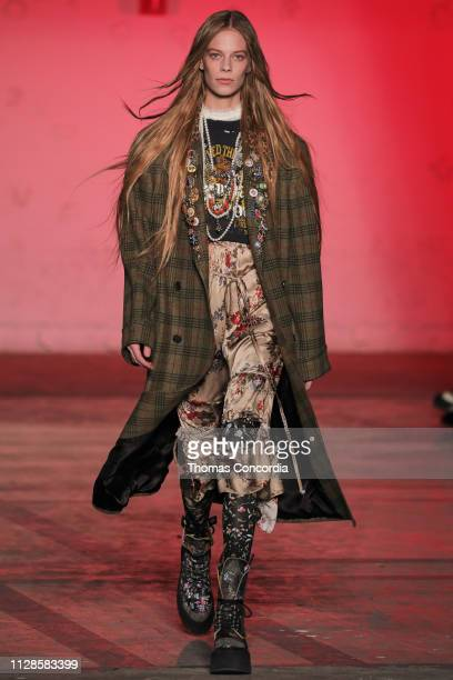 A model walks the runway wearing R13 Fall 2019 during New York Fashion Week on February 09 2019 in New York City
