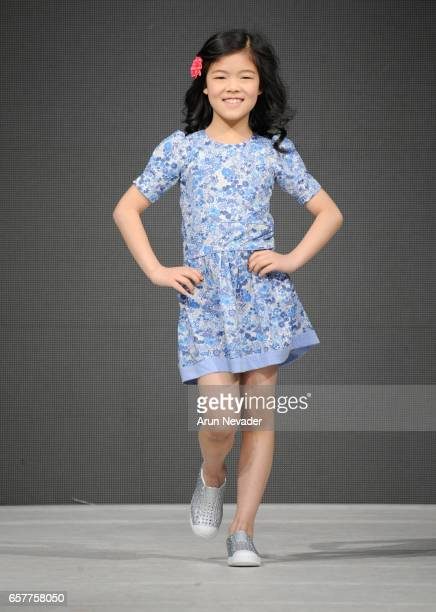 A model walks the runway wearing Rarity Kids at Vancouver Fashion Week Fall/Winter 2017 at Chinese Cultural Centre of Greater Vancouver on March 25...