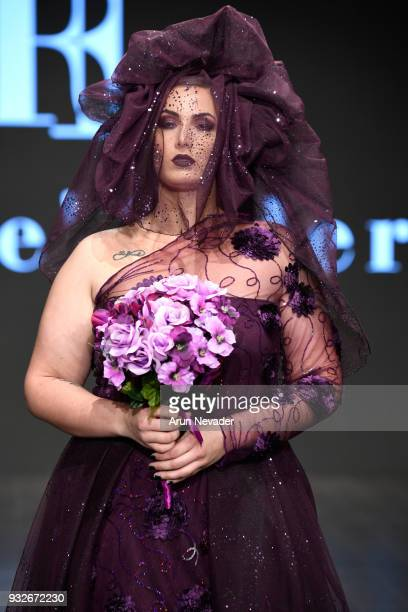 A model walks the runway wearing Rene' Tyler at Los Angeles Fashion Week Powered by Art Hearts Fashion LAFW FW/18 10th Season Anniversary at The...