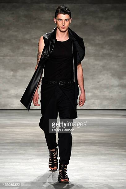 A model walks the runway wearing Resurrection at the Concept Korea fashion show during MercedesBenz Fashion Week Spring 2015 at The Pavilion at...