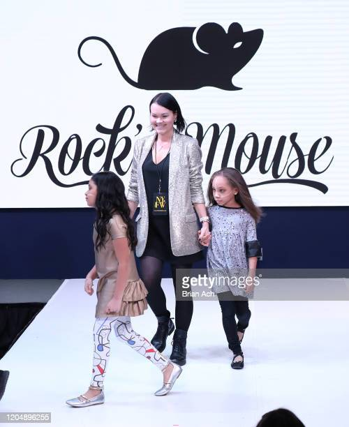 Model walks the runway wearing Rock 'n' Mouse during NYFW Powered By hiTechMODA on February 08, 2020 in New York City.