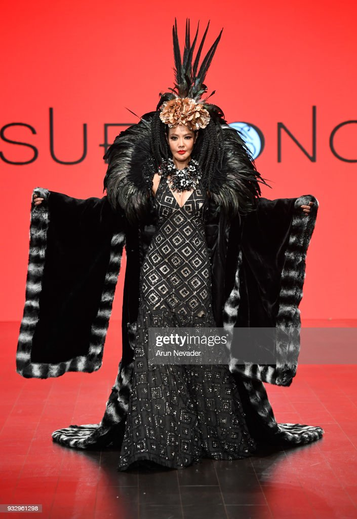 Sue Wong at Los Angeles Fashion Week Powered by Art Hearts Fashion LAFW FW/18 10th Season Anniversary