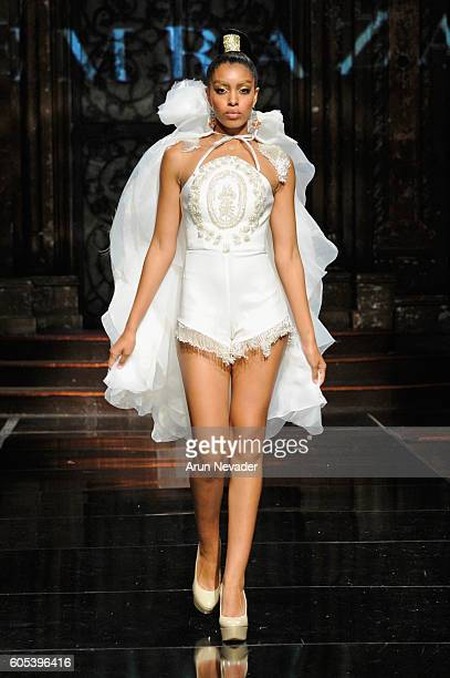 A model walks the runway wearing Temraza at Art Hearts Fashion NYFW The Shows presented by AIDS Healthcare Foundation at The Angel Orensanz...