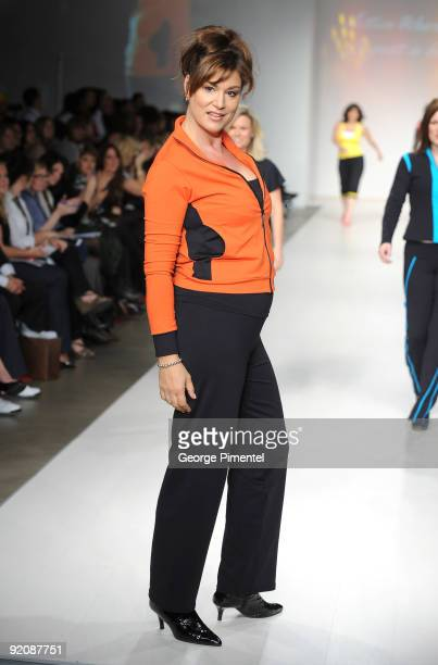 A model walks the runway wearing Vata Brasil's Spring 2010 Collection at 1030 King St W on October 20 2009 in Toronto Canada