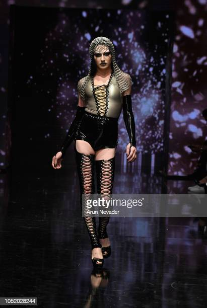 A model walks the runway wearing Venus Prototype at Los Angeles Fashion Week Powered by Art Hearts Fashion LAFW SS/19 at The Majestic Downtown on...