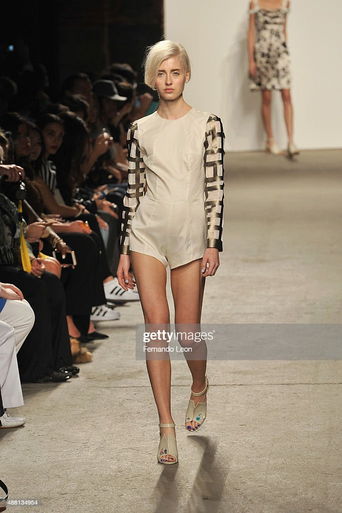 A model walks the runway wearing Vivienne Hu Spring 2016 during New York Fashion Week: The Shows at Art Beam on September 13, 2015 in New York City.