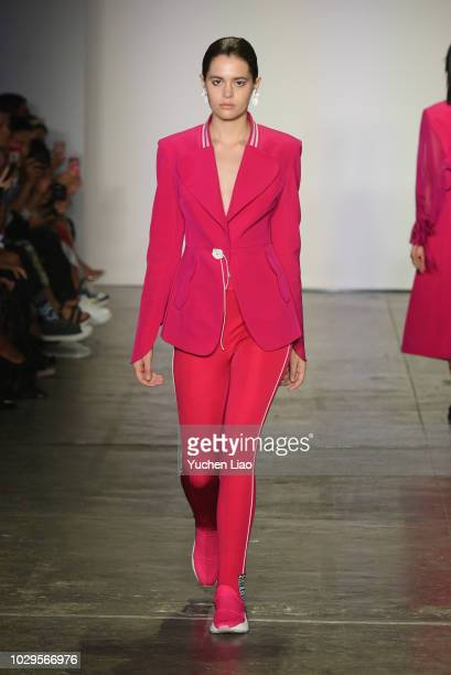 A model walks the runway wearing WANG CHANGRONG during the ICY Presents Supernova fashion show during September 2018 New York Fashion Week The Shows...