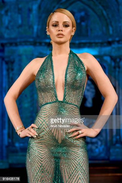 A model walks the runway wearing WILLFREDO GERARDO at New York Fashion Week Powered by Art Hearts Fashion NYFW at The Angel Orensanz Foundation on...