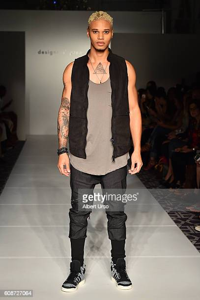 A model walks the runway wearing Xian at the Designers Premier fashion show during New York Fashion Week September 2016 on September 10 2016 in New...