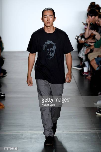 A model walks the runway wearing Yufash for CAAFD Emerging Designer Collective during New York Fashion Week The Shows on September 10 2019 in New...