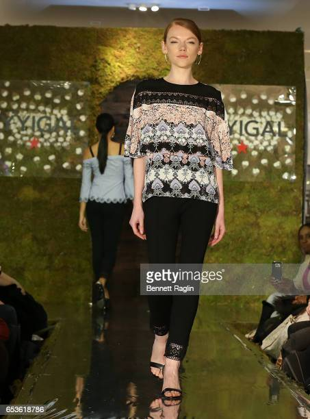 A model walks the runway wearing YYigal Capsule Collection at Macy's Herald Square on March 15 2017 in New York City
