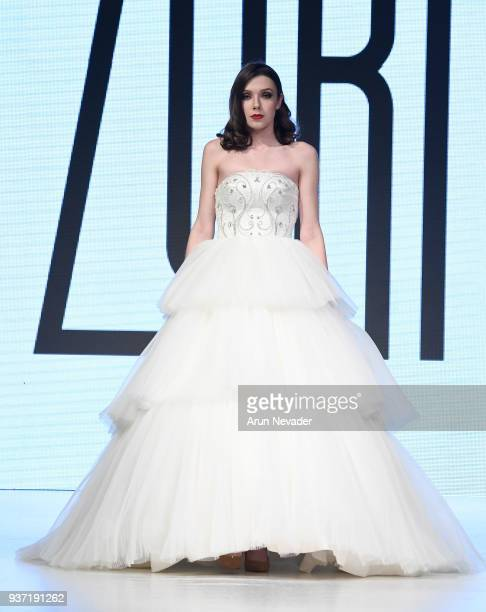 Model walks the runway wearing Zuri at 2018 Vancouver Fashion Week - Day 4 on March 22, 2018 in Vancouver, Canada.