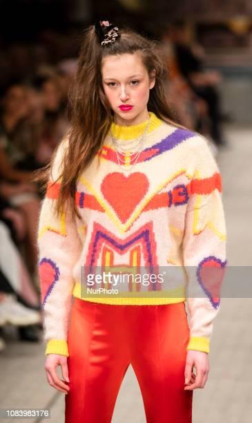 A model walks the runwayat Marina Hoermanseder Fashion Show during Fashion Week Berlin Autumn/Winter 2019in Berlin on January 17 2019