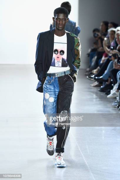 A model walks the runways at the Just In XX show during New York Fashion Week The Shows at Gallery II at Spring Studios on September 9 2018 in New...