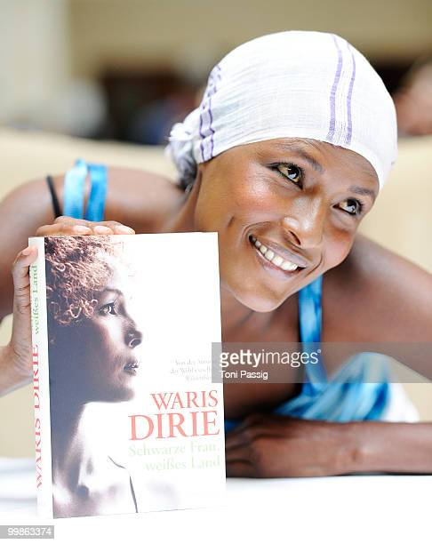 Model Waris Dirie presents her new book 'Schwarze Frau, Weisses Land' at Hotel Adlon on May 18, 2010 in Berlin, Germany.