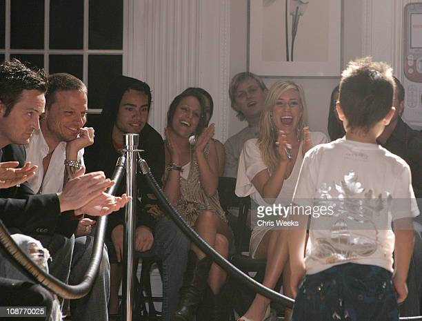 Model wearing 2B Free and Matthew Perry during Sony Ericsson and Cingular Wireless Present The 2 B Free Fall 2006 Collection Show and Arrivals at GM...