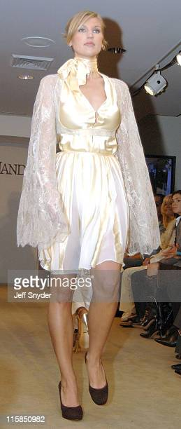 A model wearing a creation by designer Kai Milla during Stevie Wonder Attends His Wife Kai Milla's Fashion Show December 11 2005 at Saks Jandel in...