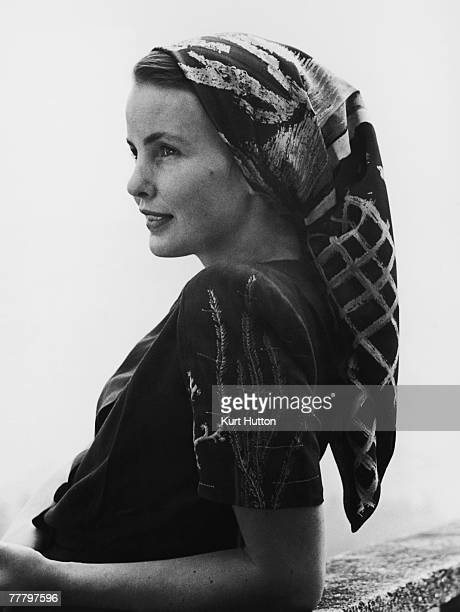 A model wearing a headscarf by Aschers of Wigmore Street London who specialise in fabrics designed by wellknown artists 20th September 1947 Czech...